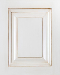White Raised Panel Cabinet Door